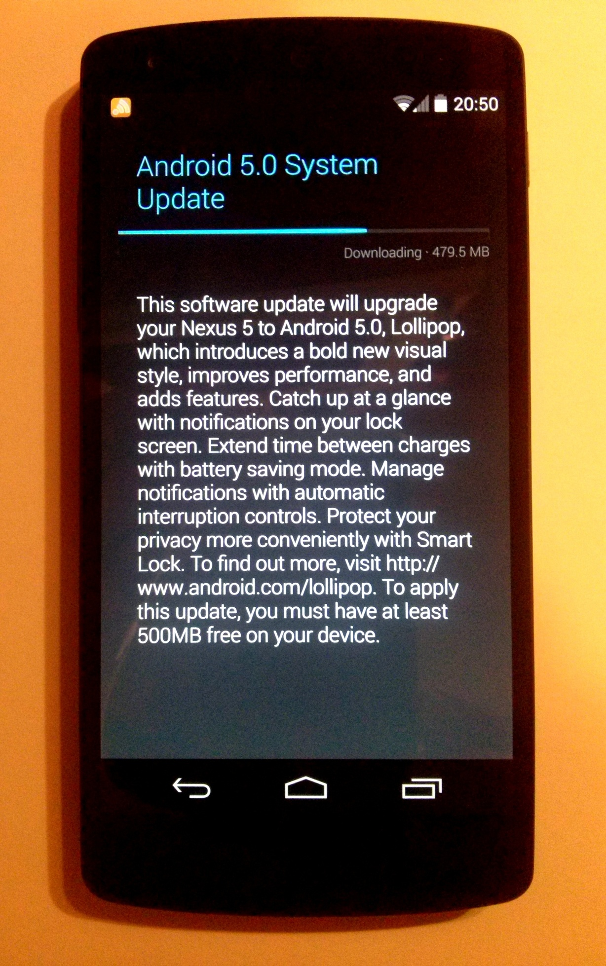 Android 5.0 Lollipop Installation